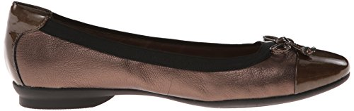 Clarks Candra Glow Ballet piatto Bronze leather