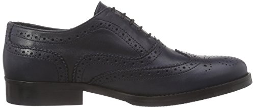 Mentor Mentor Brogue Shoe, Brogues femme Bleu (navy Leather)