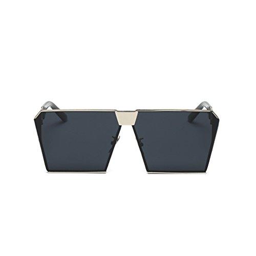 Junecat Frauen Metallrahmen Flat Top-Platz polarisierte Sonnenbrille im Freien Eyewear