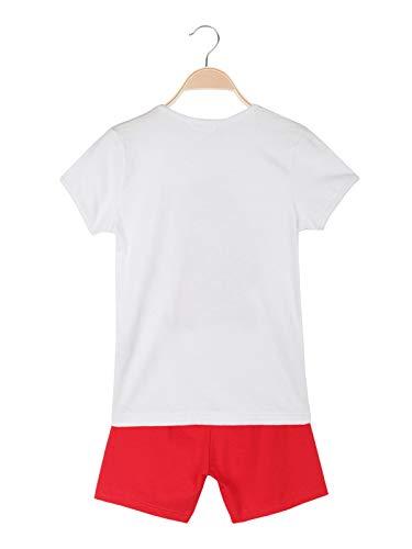 Masha e orso completo estivo t-shirt + bermuda bambino bianco cotone