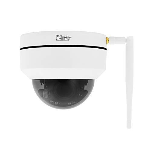 Telecamera IP WiFi 1080P HD Telecamera dome PTZ Zoom ottico 4x H.265 Telecamera di sicurezza domestica per interni ed esterni IP66 impermeabile Built-in Slot per scheda SD