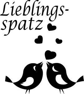 Mister Merchandise Herren Men V-Ausschnitt T-Shirt Lieblings - Spatz Tee Shirt Neck bedruckt Weiß