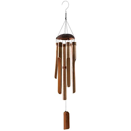 AUBRY GASPARD Carillon en Bambou et Noix de Coco h88 cm