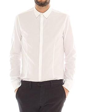 AltaTensione Camicia Slim in Cotone Stretch Micro Fantasia