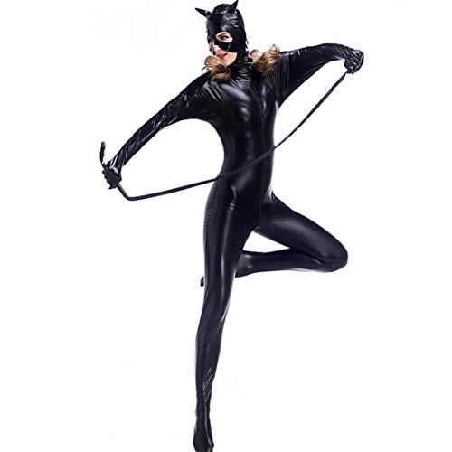 Kostüm Black Cosplay Cat - CoolTing Schwarze Katze Frau Cosplay Kostüm Cat Suit Jumpsuit,Black,XL
