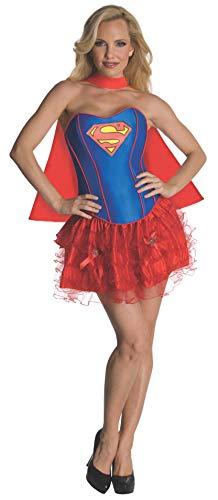 Rubie's 3880558 - Supergirl Corset Dress - Adult, Verkleiden und Kostüme, - Supergirl Adult Kostüm