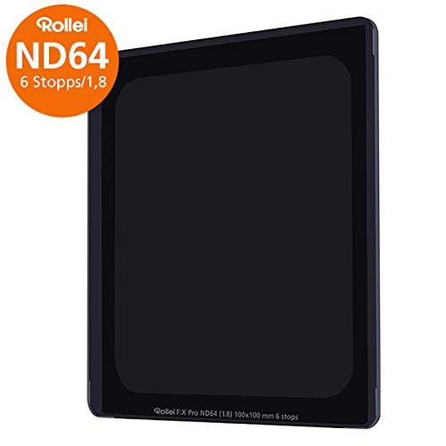 Rollei Filter F:X Pro ND 64 Filter I Graufilter 100mm aus Gorilla-Glas mit Luminance Coating I Ideal für Langzeitbelichtungen am Tag