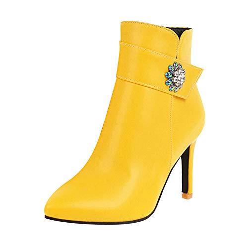 Schuhe Damen High Heels, Lässige Sandalen Casual Schuhe Frauen Mode Leder Schuhe Freizeitschuhe,ABsoar