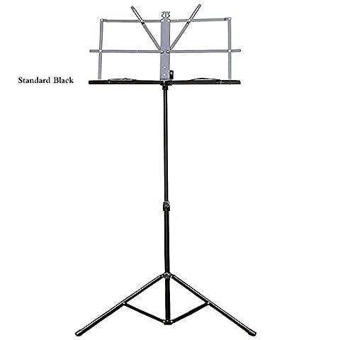 Forfar Licht Folding tragbar Notenständer Halter Rack Blatt Tabulatur-universal Einstellbare Metall Gitarre Instrumententeil Zubehör
