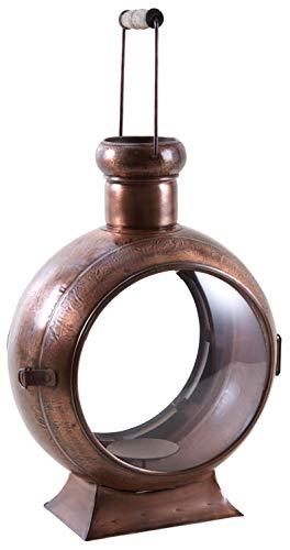 Lanterne en métal cuivré