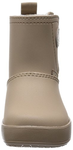 crocs Colorlite Snug Boot Ps Unisex-Kinder Stiefel & Stiefeletten Beige (Tumbleweed/Oatmeal)