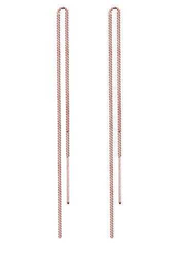 Elli Damen Ohrringe Durchzieher 925 Sterling Silber Vergoldet rosegold (Ohrringe Vergoldet-lange)