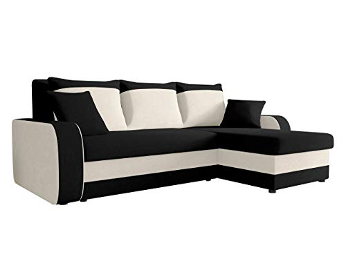 Wohnzimmer Sofa (Ecksofa Kristofer, Design Eckcouch Couch! mit Schlaffunktion, Zwei Bettkasten, Farbauswahl, Wohnlandschaft! Bettfunktion! L-Form Sofa! Seite Universal! (Mikrofaza 0015 + Mikrofaza 0031))