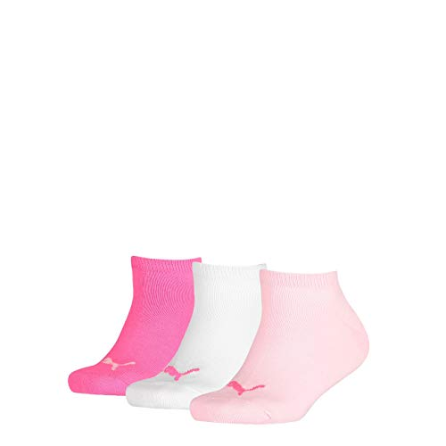 Puma Kids Sneaker Invisible 3Pack, Größe:23-26, Farbe:Pink Lady (422) - Womens Logo Quarter Sock