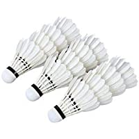 Tima Baleno Feather Shuttlecock (White, Pack of 12)