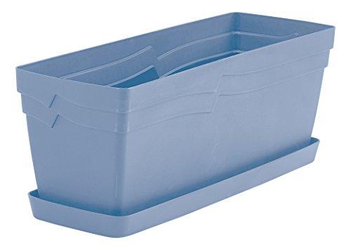 Self-watering Window Box (Whitefurze gswt49pb Boston Übertopf-Powder Blue)