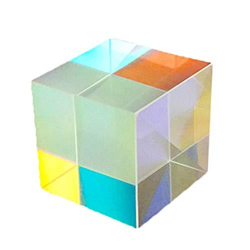Würfelprisma,10 * 10 * 10mm Sechs Seiten Sechs Lichter Quadrat Prisma Farbe Prisma Würfel Prisma Gesicht Foto Requisiten Optisches Glas Prisma Fotografie Filterwerkzeug für Außenkameras