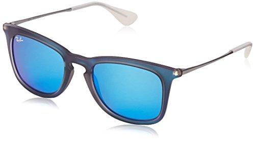 Ray Ban Unisex Sonnenbrille RB4221 Gestell: Mehrfarbig,Gläser: leichtes grün verspiegelt blau 617055), Medium (Herstellergröße: 50)