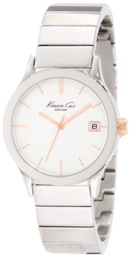 Kenneth Cole KC4840 - Reloj para Mujeres, Correa de Acero Inoxidable Color Plateado