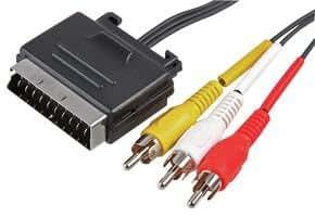 SCART TO 3 X PHONO PLGS - FLAT . PSG00447 By PRO SIGNAL