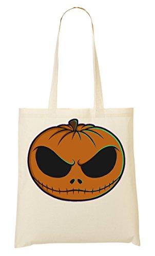 Angry Pumpkin Head Tragetasche Einkaufstasche ()