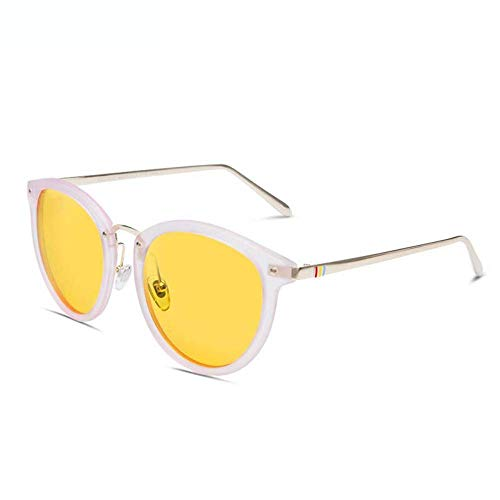 BAIF Sonnenbrillen Sonnenbrillen Weibliche runde Brillen Sonnenbrillen Weibliche Anti-Uva und Anti-Uvb Polarisation