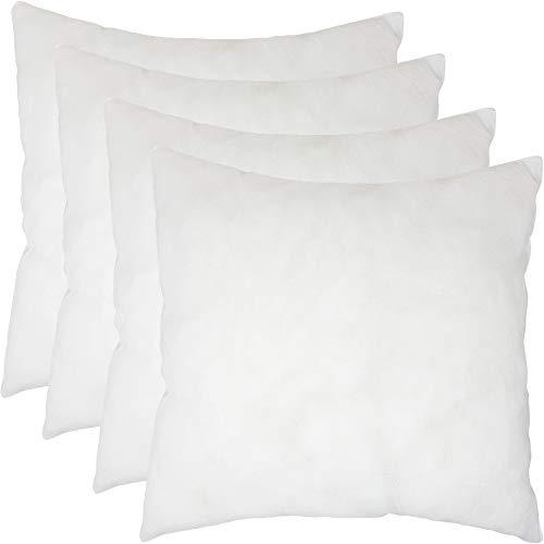 Home Edition Kissenfüllung 4er Set Innenkissen 45 x 45 cm | Füllmaterial Kissen Inlett | Kopfkissen Dekokissen | Polyester Microfaser