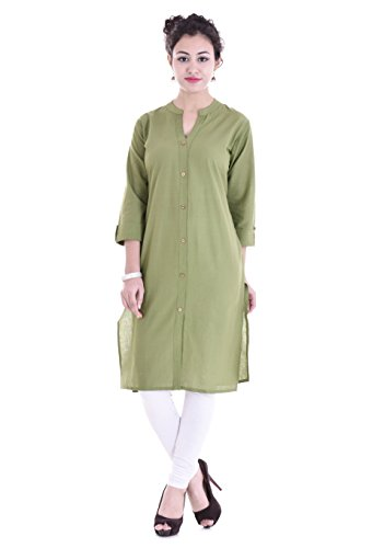 Barari Women's A-line Kurta(MW-CKT12-XL _Green_X-Large