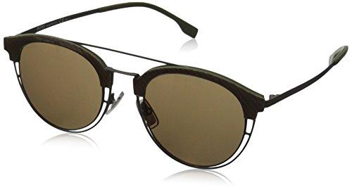 BOSS Hugo Herren 0784/S LC 97C Sonnenbrille, Grau (Matt Grey/Brown Gold AR), 49