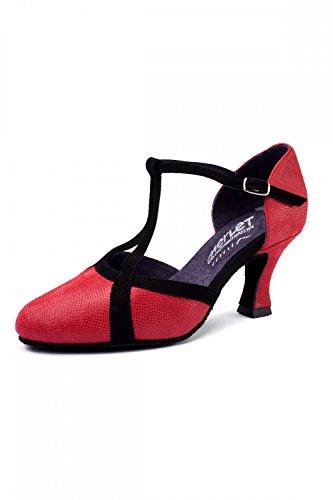 Merlet Choemi Standard Tanzschuhe 39.5 Schwarz/Rot