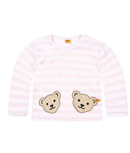 Klassisch Gestreift, Gestreift Pullover (Steiff Unisex - Baby Sweatshirt, gestreift Doppelbären Shirt 0002891, Gr. 68, Rosa (barely pink 2560))
