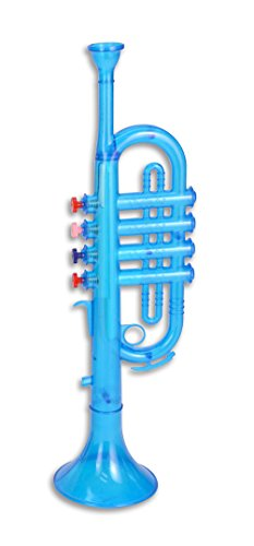 Bontempi – 323869 – Musikinstrument – Trompete Transparent – Super Wings – Blau/Gelb