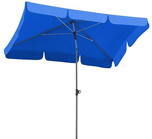 Schneider Sonnenschirm Locarno, royalblau, 180x120 cm rechteckig, Gestell Stahl, Bespannung Polyester, 2.3 kg