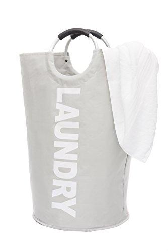 Panier à linge grand panier pliable avec sac fourreau Oxford gris