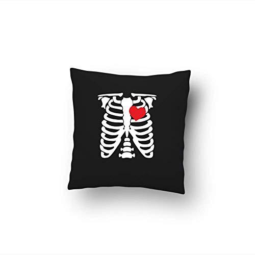 Bikerella cuscino cotone 40x40 halloween scheletro con cuore nero/color 40x40cm by