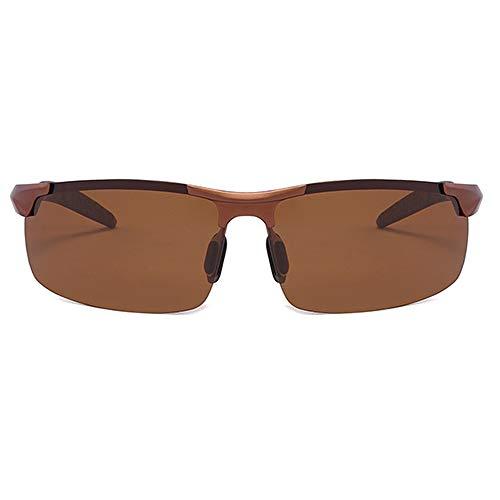 BlueAurora Herren polarisierte Sonnenbrille, Aluminiumlegierung Brillen für den Sport,Gray