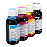 4 x 100ml Refill Ink Bottles for HP & Canon Printers