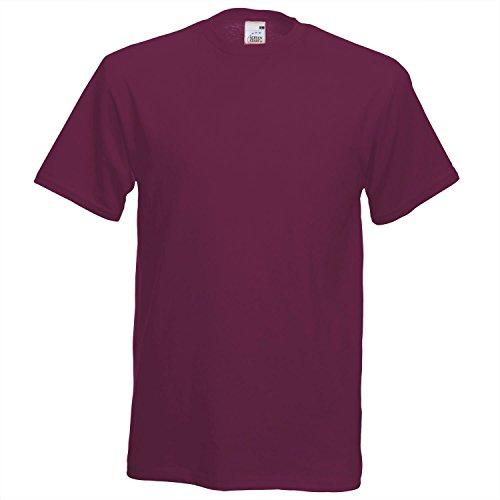 Fruit of the Loom Herren T-Shirt Burgundy