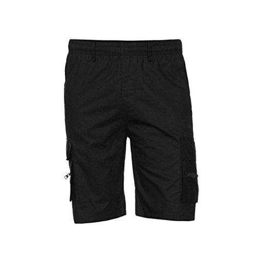 Männerhosen,Honestyi 2018 Frühling Sommer Herren Shorts Sport Arbeit Casual Armee Kampf Cargo Shorts Hosen (EU-48/CN-XXXL, Schwarz) (Henley T-shirt Mini)
