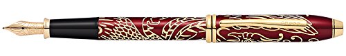 cross-townsend-year-of-the-rooster-red-lacquer-with-23ct-gold-medium-nib-fountain-pen