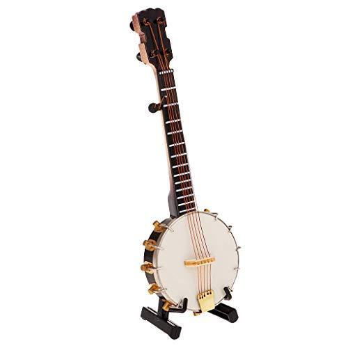 SM SunniMix 1/6 Mini Sousaphon Saxophon Banjo Musikinstrumente Zubehör für 12 '' Actionfigur Körper - Banjo (Banjo Spielzeug)