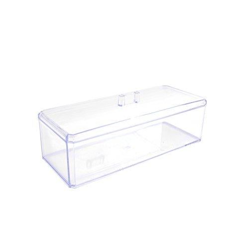JE CHERCHE UNE IDEE SB11235 Boîte à cosmétique PS, Transparent, 23,5 x 9,6 x 8,5 cm