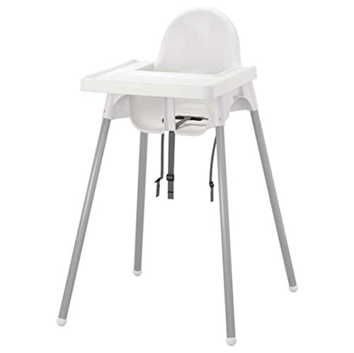 Ikea Antilop Highchair with Tray,safety Belt, White, Silver Color and Antilop Highchair White by IKEA...