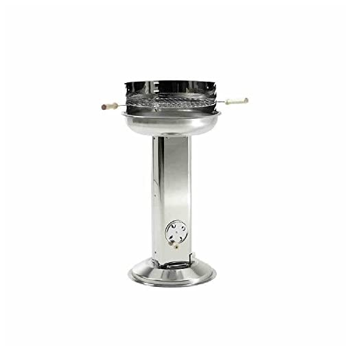 Landmann-Stainless-Steel-Pedestal-Charcoal-Barbecue