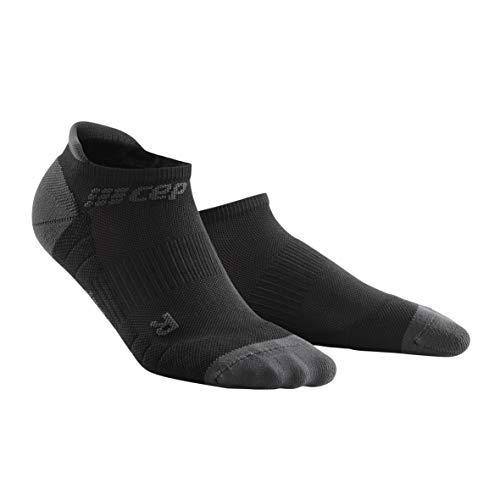 CEP - NO Show Socks 3.0 für Damen | Kurze Sportsocken für Dein Workout in schwarz/grau | Größe II -