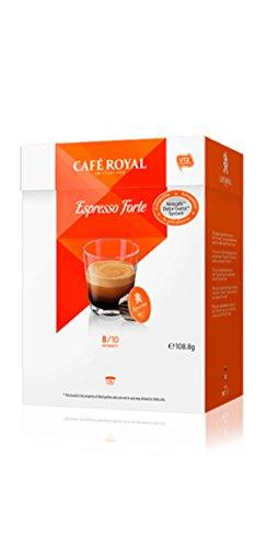 Café Royal Espresso Forte, 64 Nescafé Dolce Gusto kompatible Kapseln, 4er Pack...