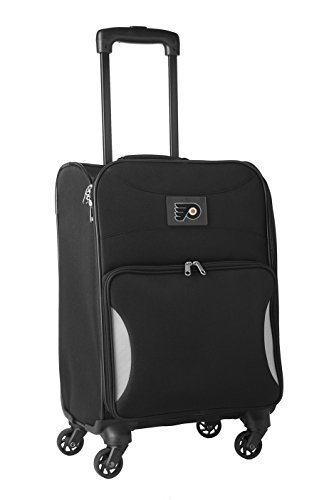 nhl-philadelphia-flyers-lightweight-nimble-upright-carry-on-trolley-18-inch-black-by-nhl