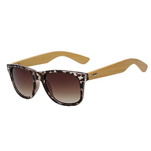 Zbertx Bambus Sonnenbrille Neue Männer Holz Sonnenbrille Männer Designer Spiegel Frauen Sonnenbrille,White Leopard