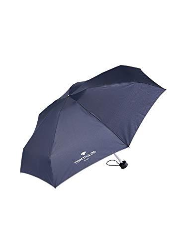 TOM TAILOR Unisex Umbrellas Regenschirm dark blue,OneSize