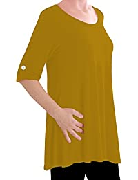 Eyecatch TM Oversize - Jessica Womens Tunic Plus Size Scoop Neck Ladies Flared Long Top